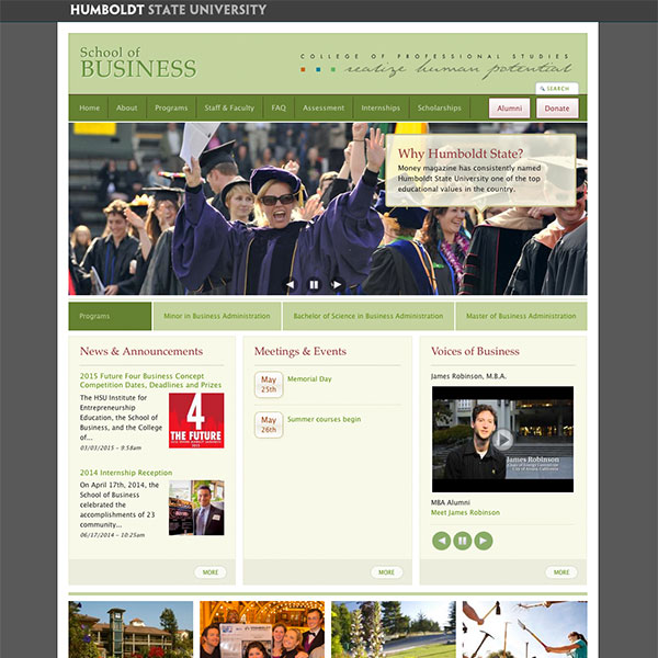 Humboldt State University web design