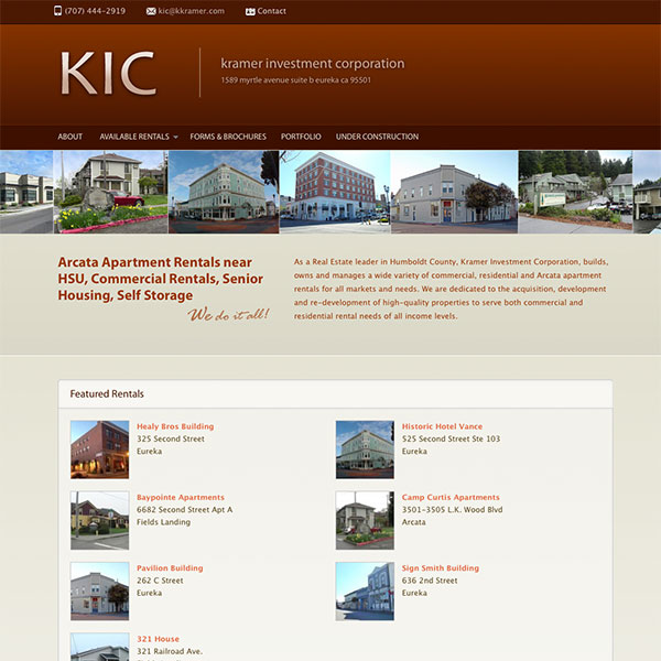 Kramer Investment Corporation web design